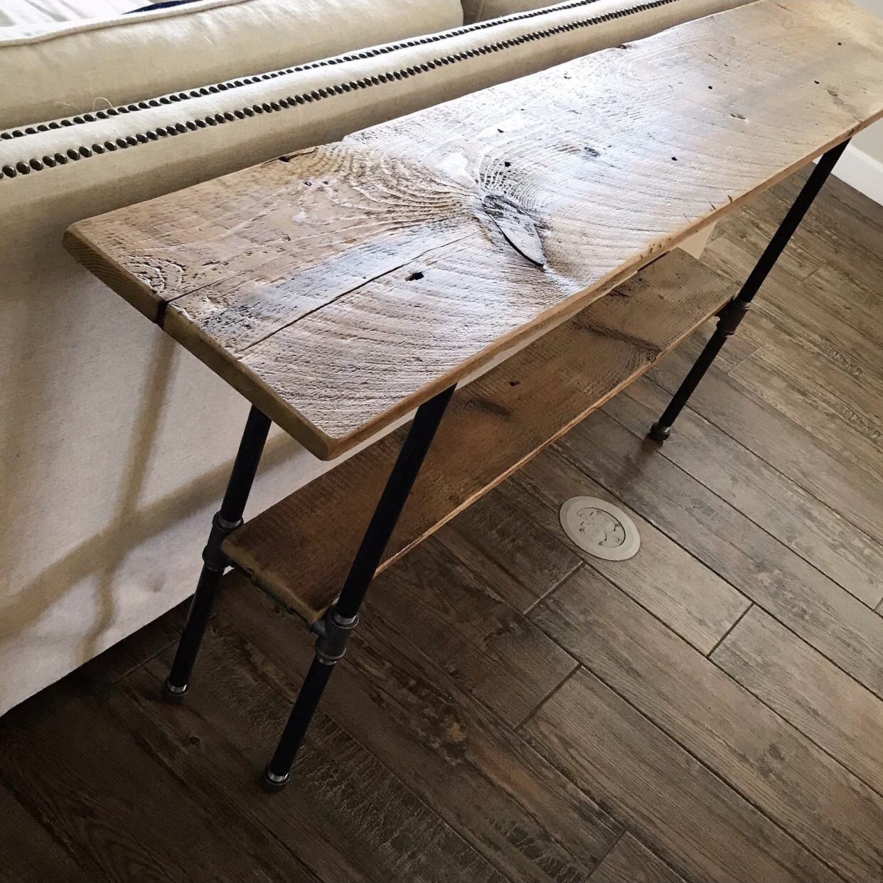 "Henry Console Table 72"" with Shelf"