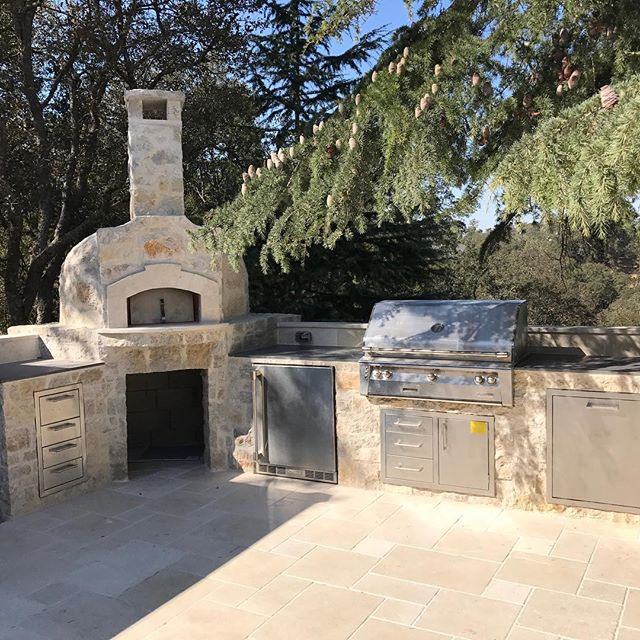 BBQ, Pizza oven and patio we finished in Los Gatos