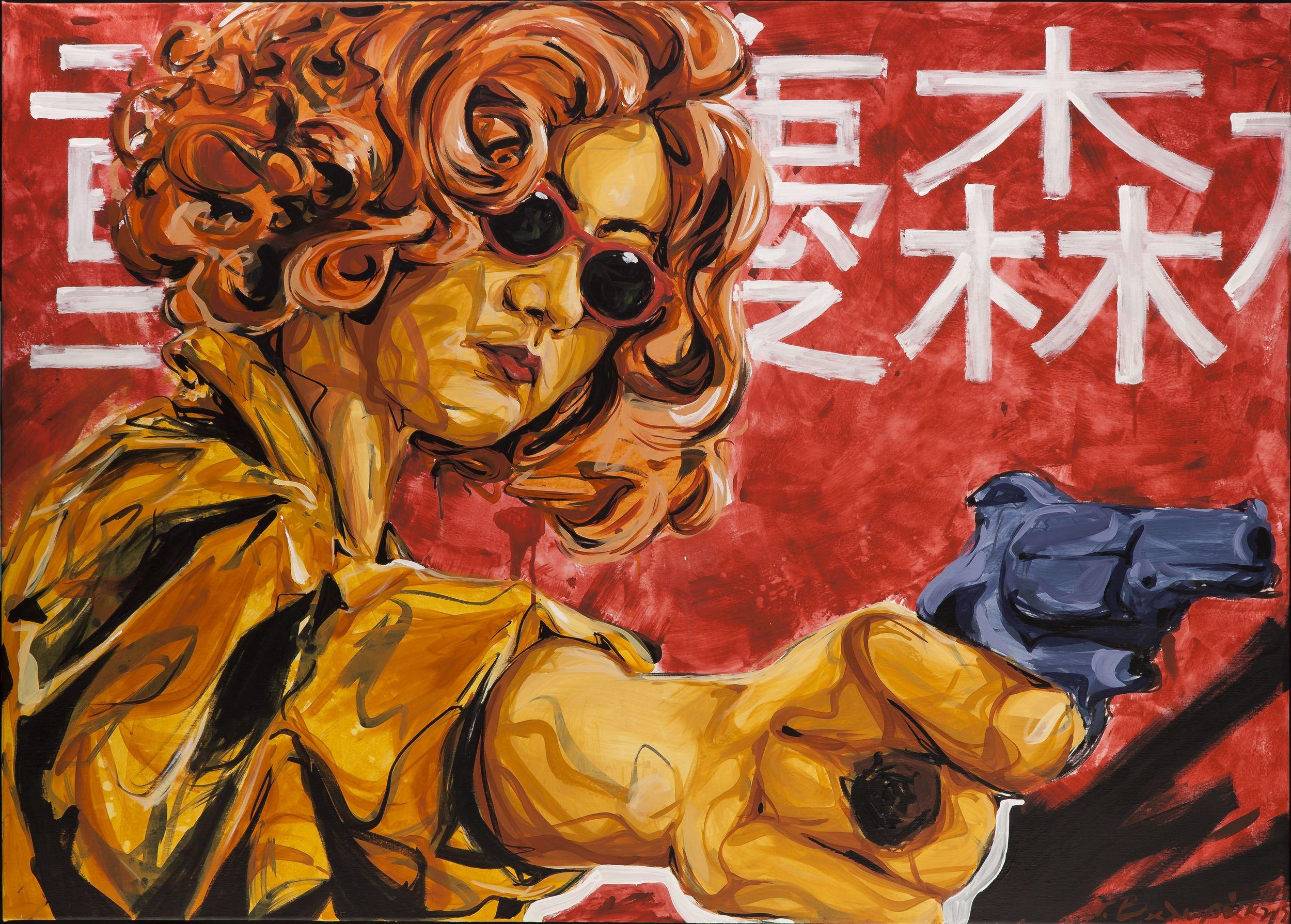 Radiozoa_John Valyrakis - Bang Bang! - Acrylics and Spraypaint on Canvas - 1.40x1.00m.jpg