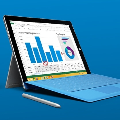 Launching Microsoft's Surface 3