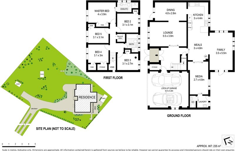 5a Awatea Rd St Ives Chase floorplan and site plan.jpg