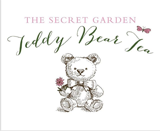 Updated Teddy Bear Tea logo. Love they switched to a secret garden theme from the Valentine's Day theme in years past. 🧸🍵🌸 #logo #logodesigner #graphicdesign