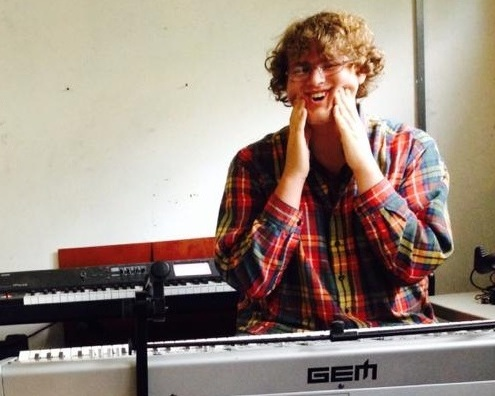 """Jasper Burik plays keys on every song on """"Easy""""."""" We met in LA through a mutual friend and we still meet up to write songs together. Jasper is also a talented songwriter and multi-instrumentalist making music under the moniker Dogs//Dogs//Dogs."""