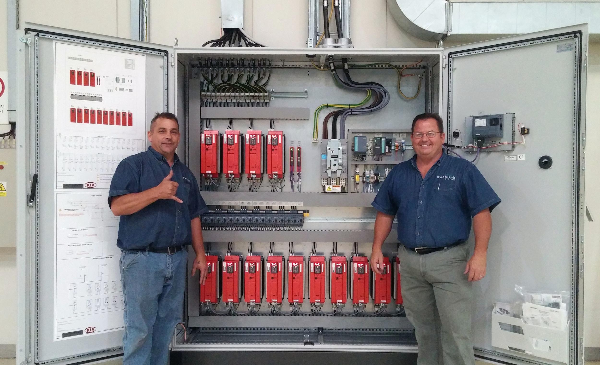Washlink Systems team members Mike Jensen and Steve Homan