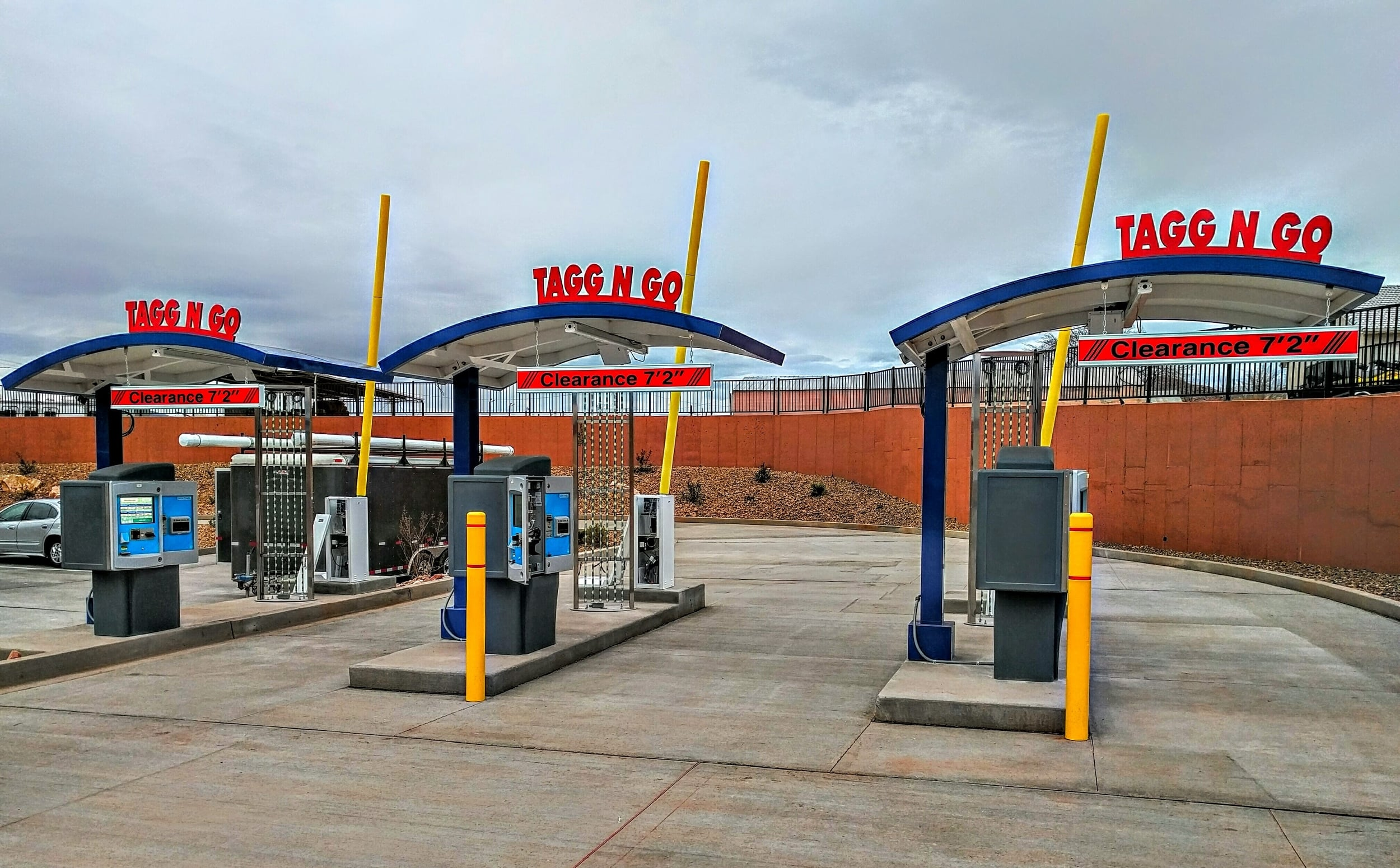 3 Unitec Sentinels pay stations with WLS RFID's