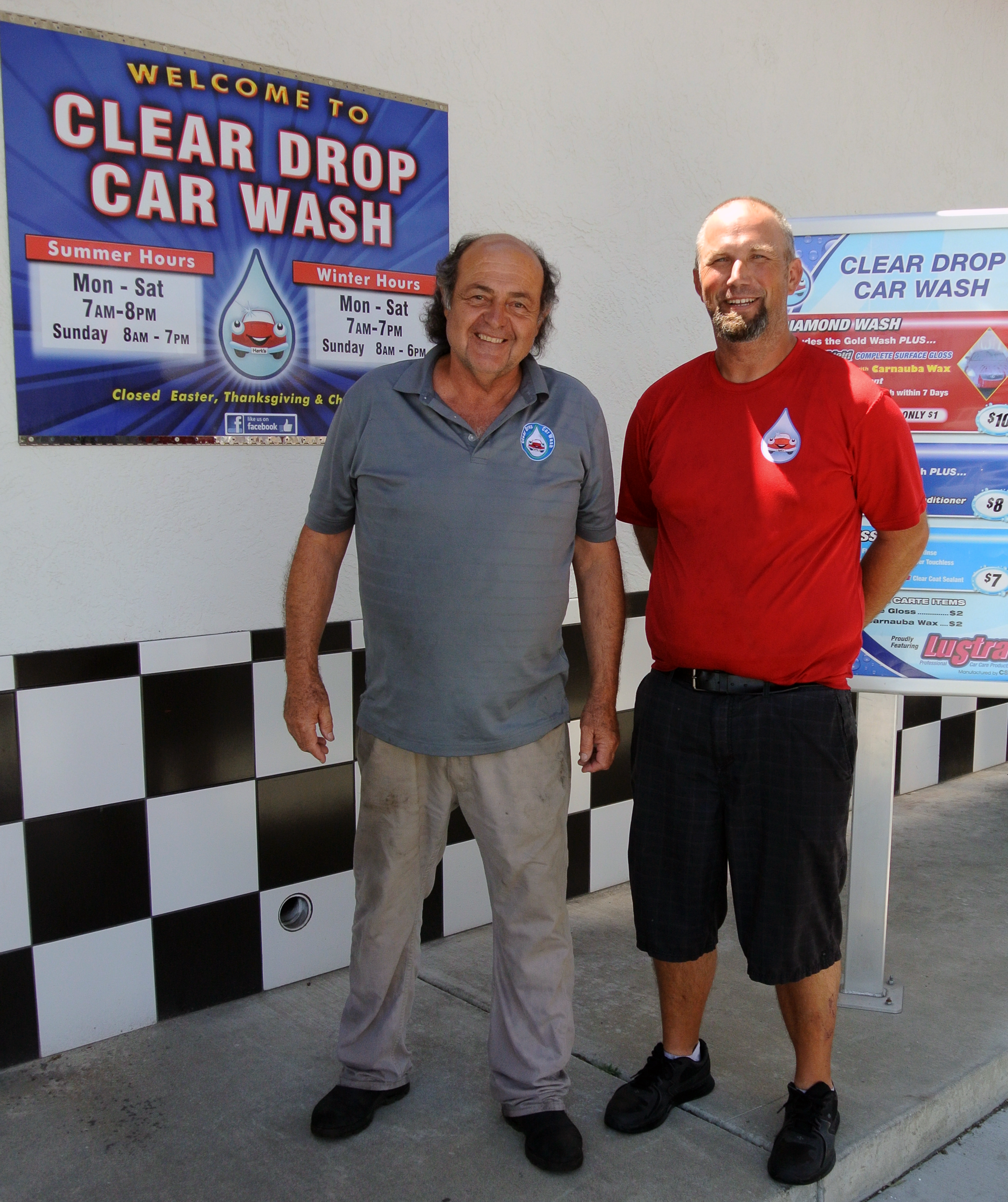 Clear Drop Owner Hercules Vourakis and Site Manager Adam Holman