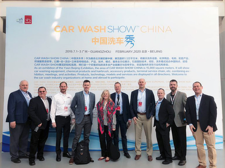ICA representatives at the 28th CIAACE car wash show China. Our own Steve Homan is second from the left. ICA代表參加第28屆CIAACE洗車展。我們自己的史蒂夫霍曼位於左起第二位。