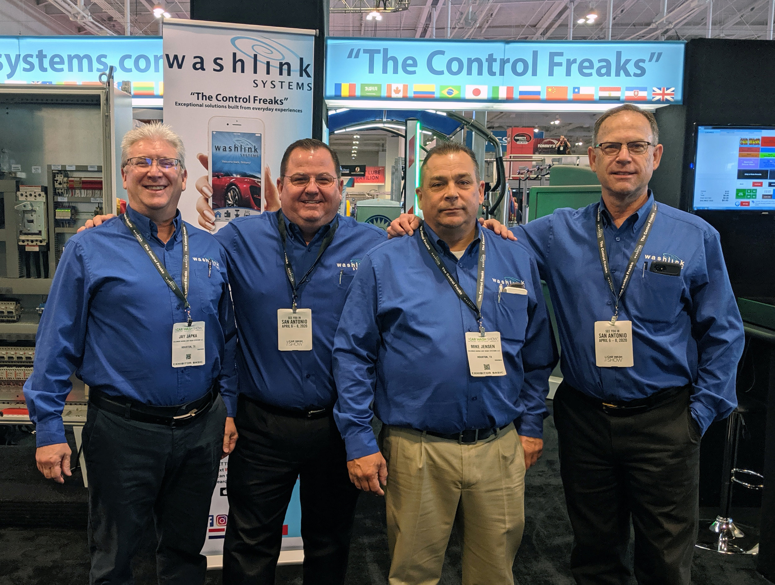 Jay Japka, Steve Homan, Mike Jensen and Andrew Davies, The Washlink Systems Team.