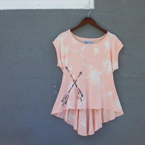 Peach Arrow Print Swing Top.jpg