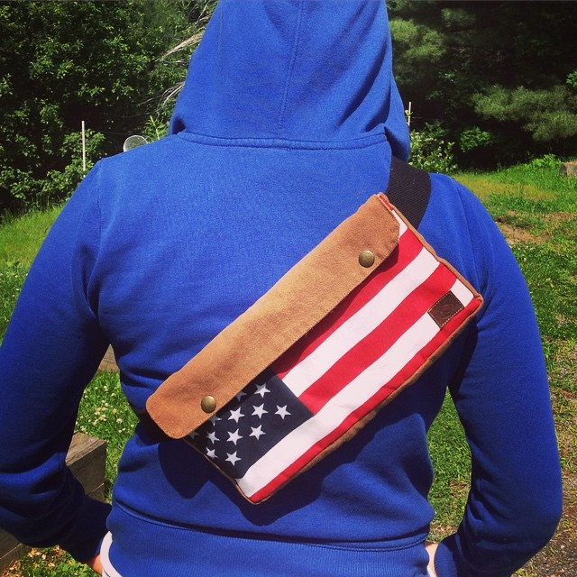 American Flag Belt Bag
