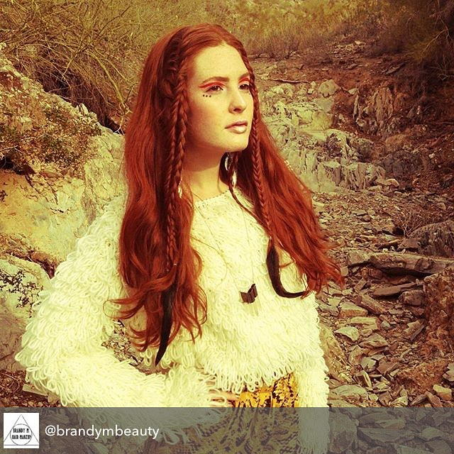 Repost from @brandymbeauty using @RepostRegramApp - Shoot in Arizona a few years ago. I'm currently back in the desert and feeeelin' it. So much inspiration! Hair/makeup by yours truly... I made the necklace too!! #brandymbeauty #brandymcdonald #hair #makeup #desert #fashion #desertvibes #magical