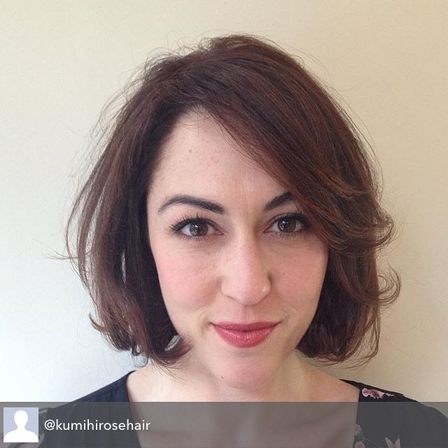 Repost from @kumihirosehair using @RepostRegramApp - Sweet miss Kelley.  @hairbrained_official #bob