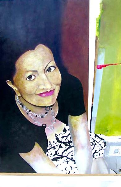 """Santa Cristina""  acrylic, oil and aluminum on canvas  60x48"""