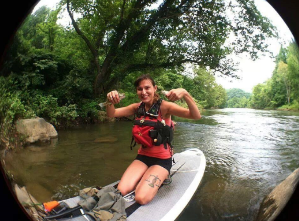 Holly - Born and raised in Western North Carolina, Holly grew up right by the banks of the Pigeon and French Broad rivers. She was introduced to standup paddling when a friend brought a board on a camping trip, and now she's gone from lazy day paddles to racing and paddling whitewater.Thankfully her