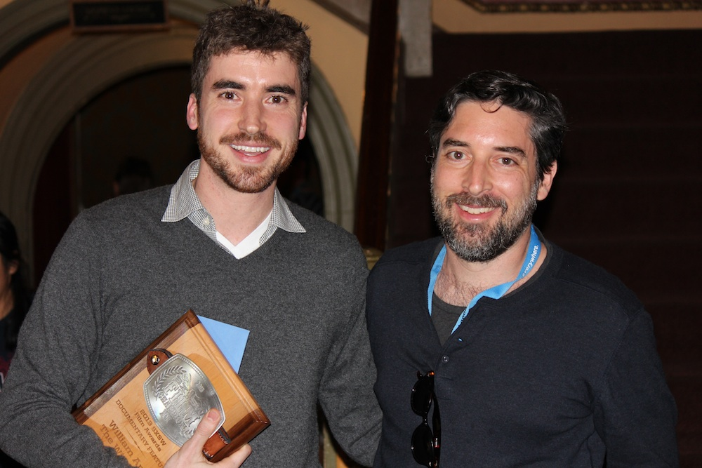 Ben Nabors (director, producer)and Carlos Pavan (co-editor) of WILLIAM AND THE WINDMILL.