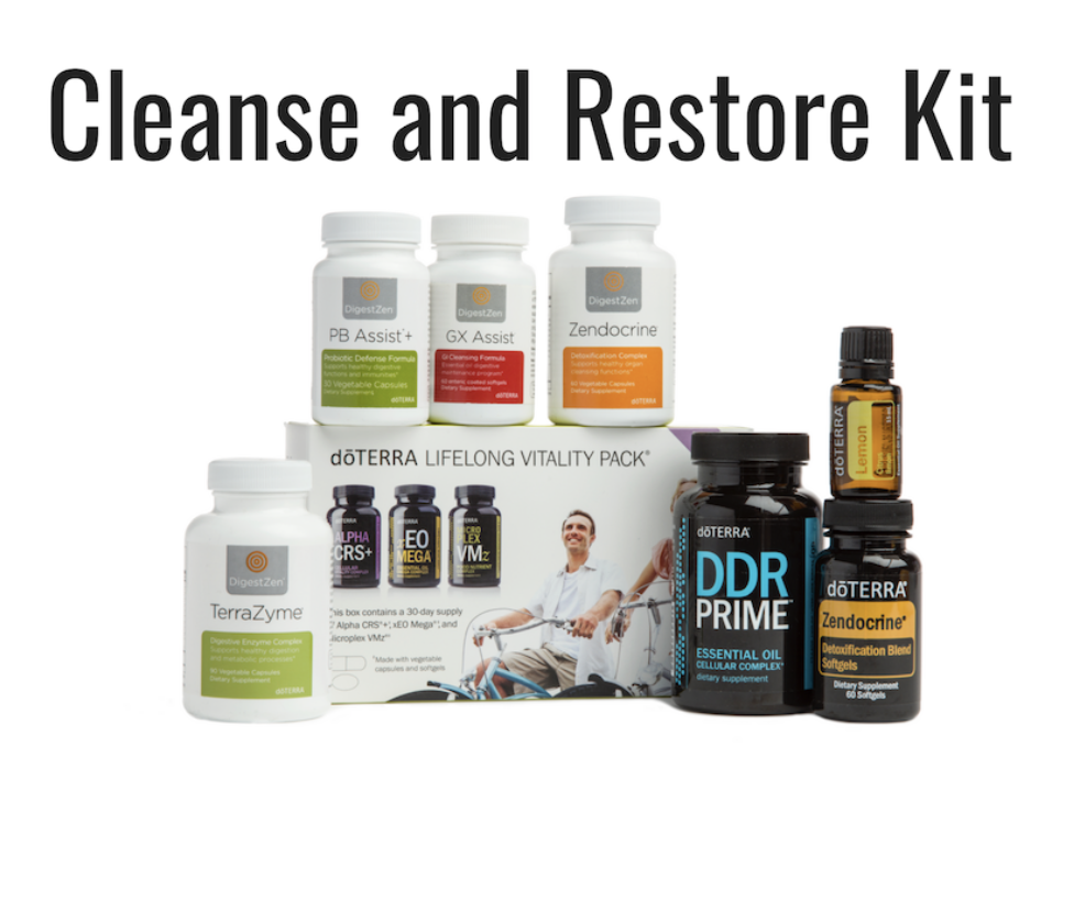 Wholesale: $245.00 USD  doTERRA Lifelong Vitality Pack, Zendocrine Softgels, Zendocrine Complex, DigestZen TerraZyme, GX Assist, PB Assist+, DDR Prime Softgels, Lemon essential oil, The doTERRA Essentials Booklet