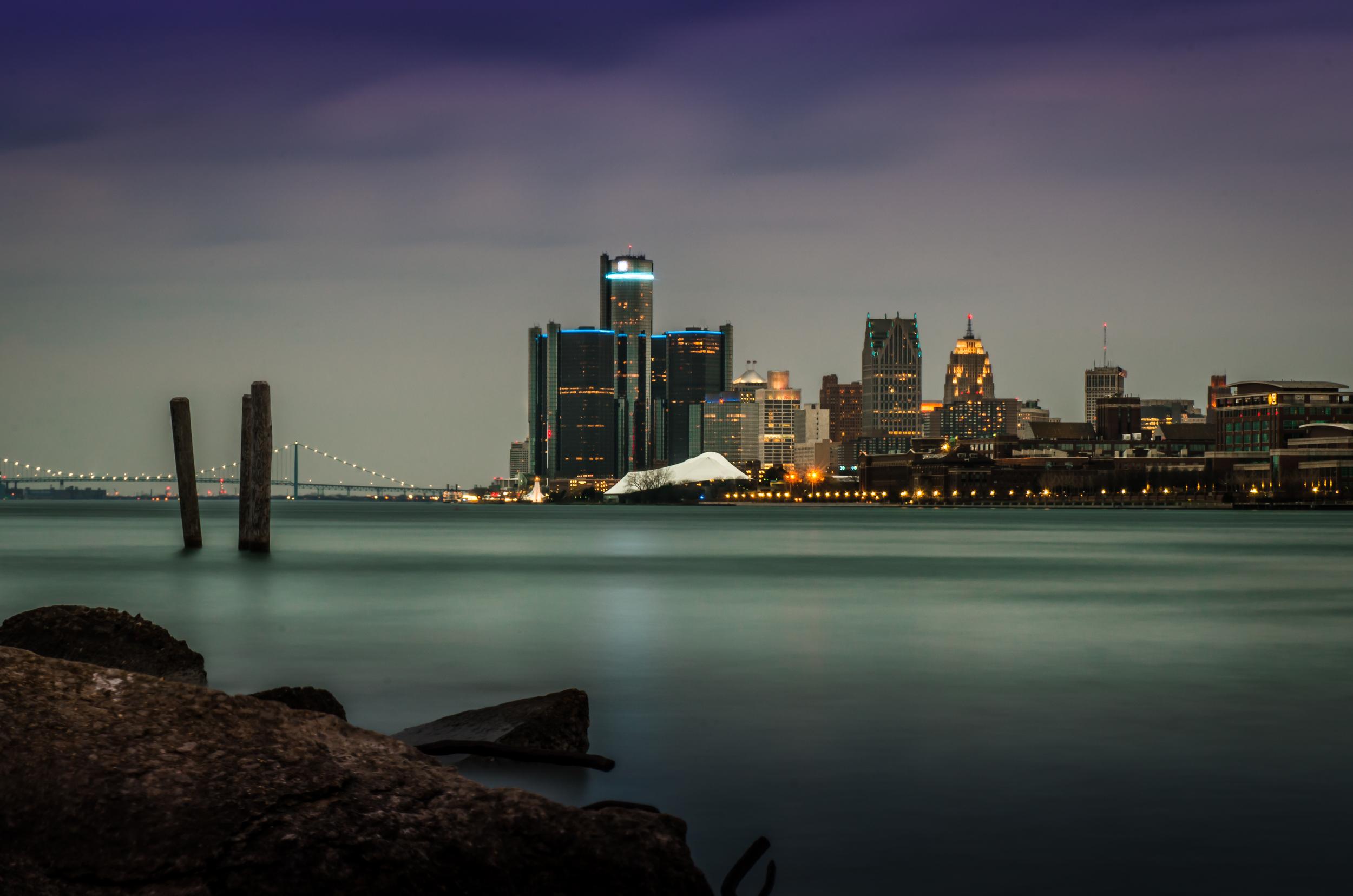 Detroit Skyline from Belle Isle
