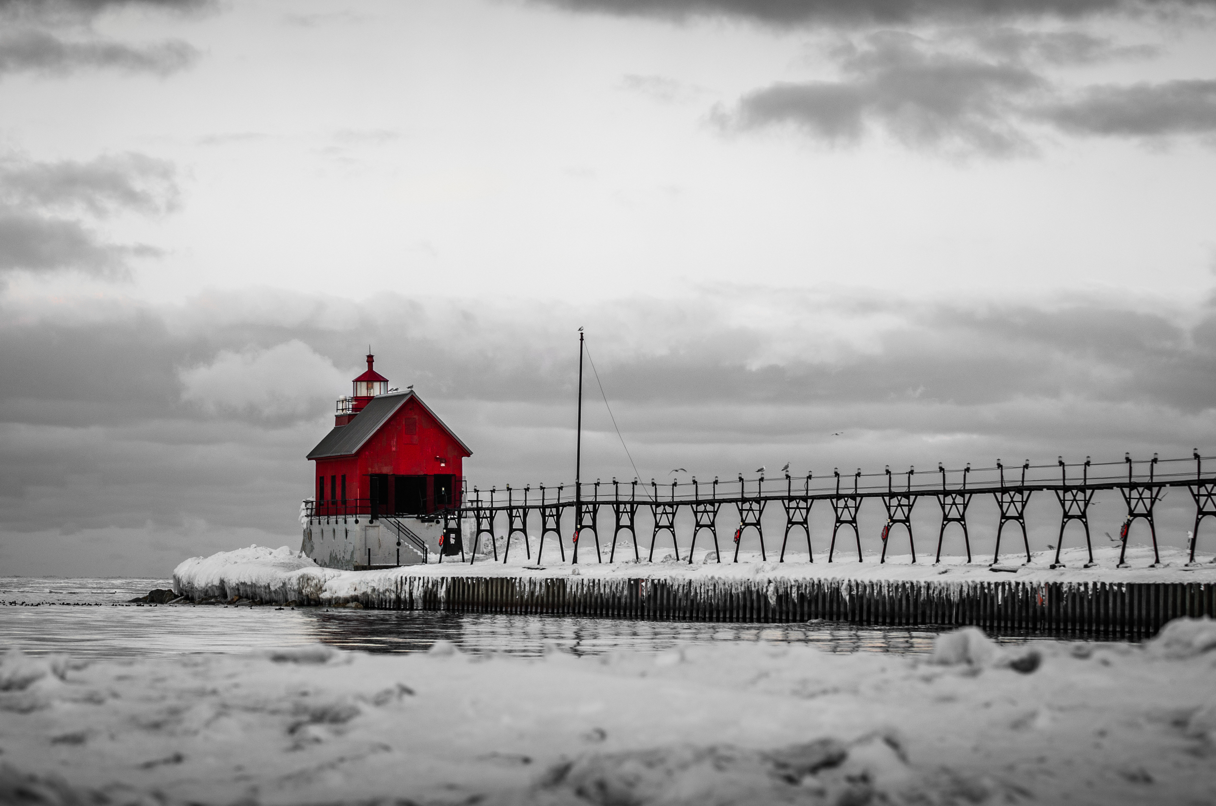 Winter at Grand Haven Lighthouse