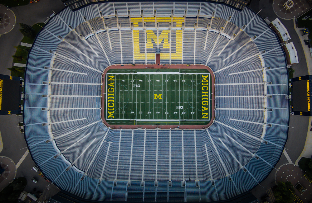 Directly over The Big House