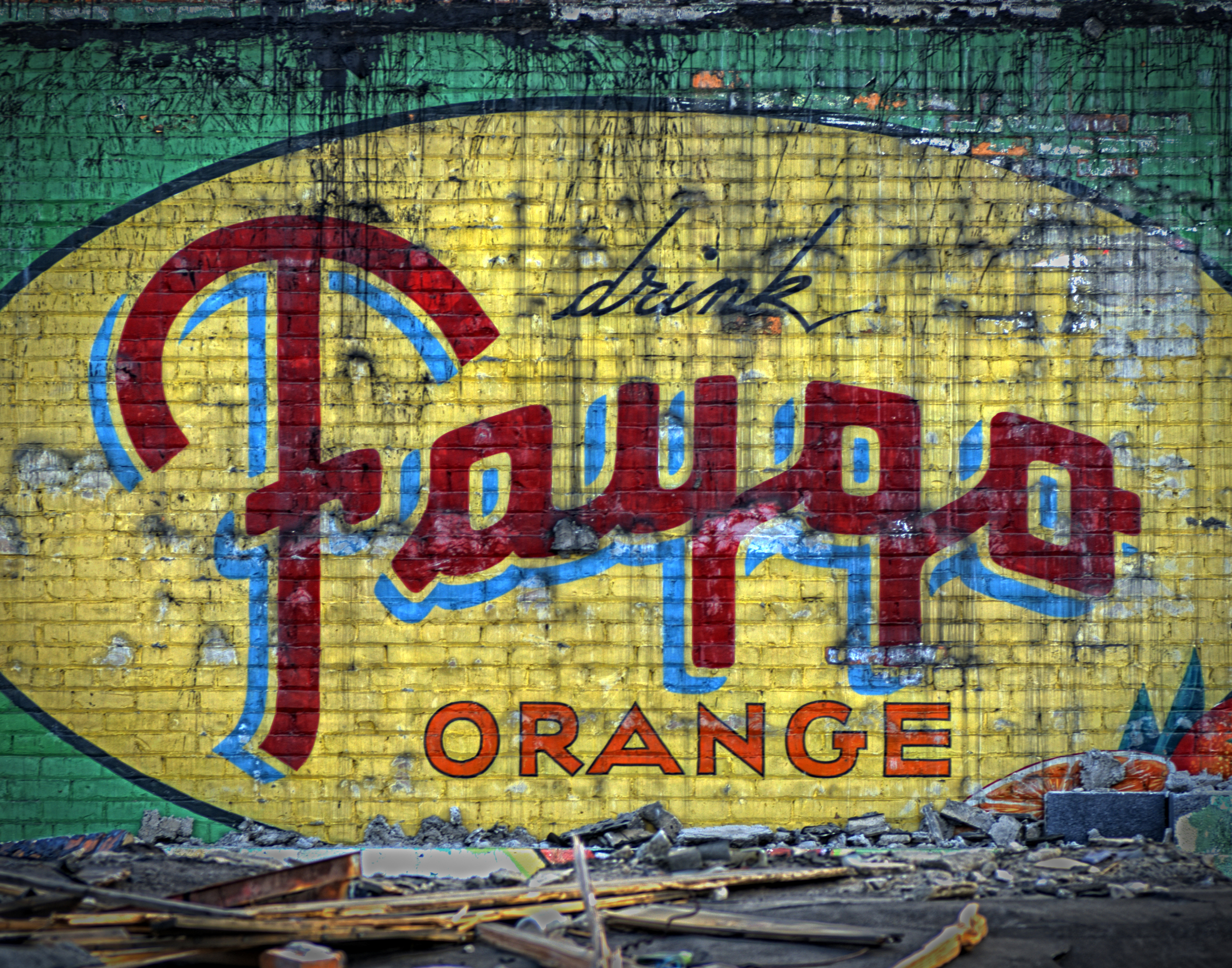 Faygo ghost building sign