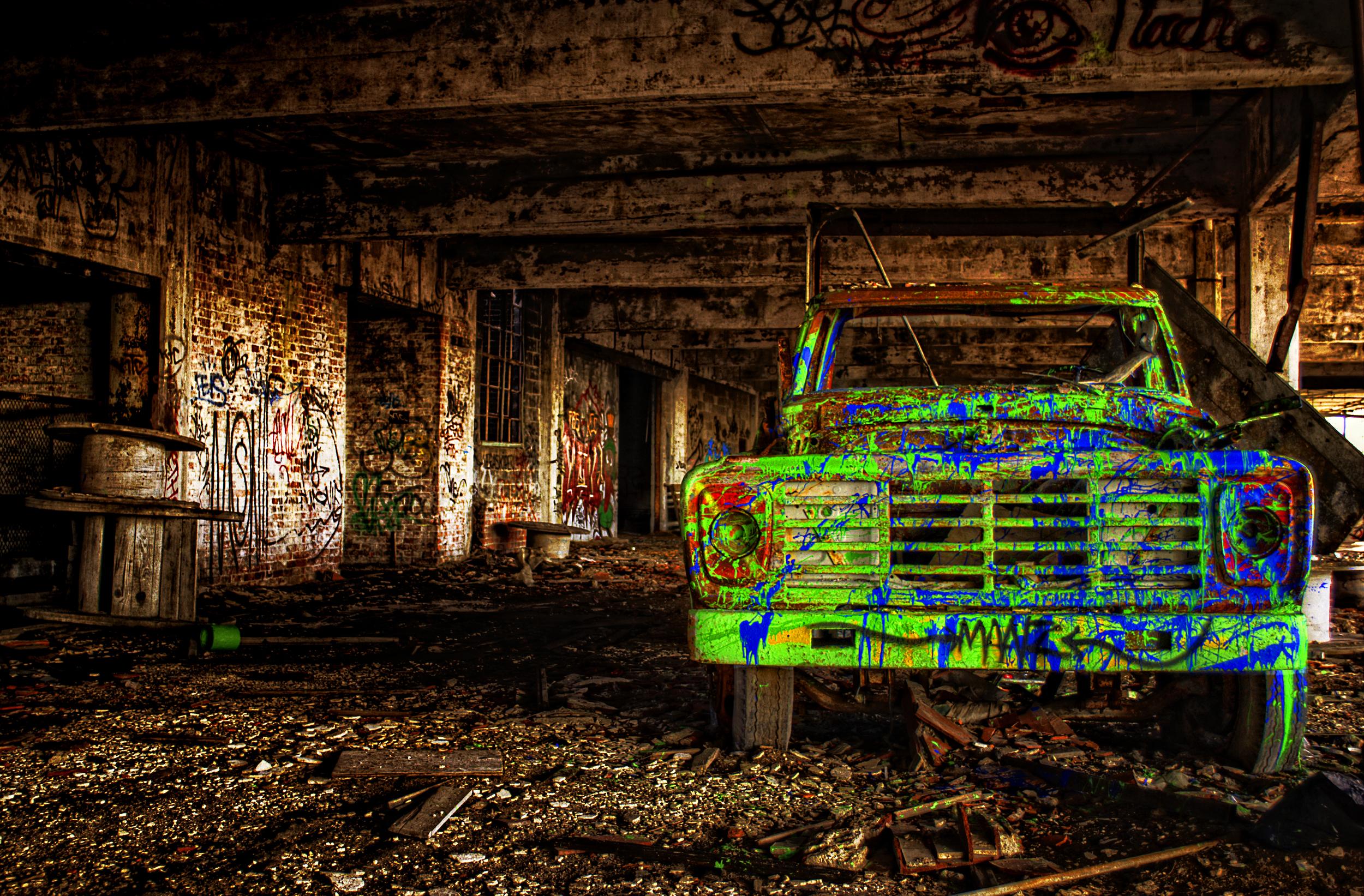 Packard Plant Graffiti