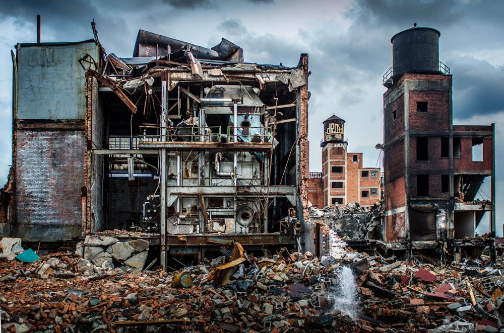 Fire remains Detroit
