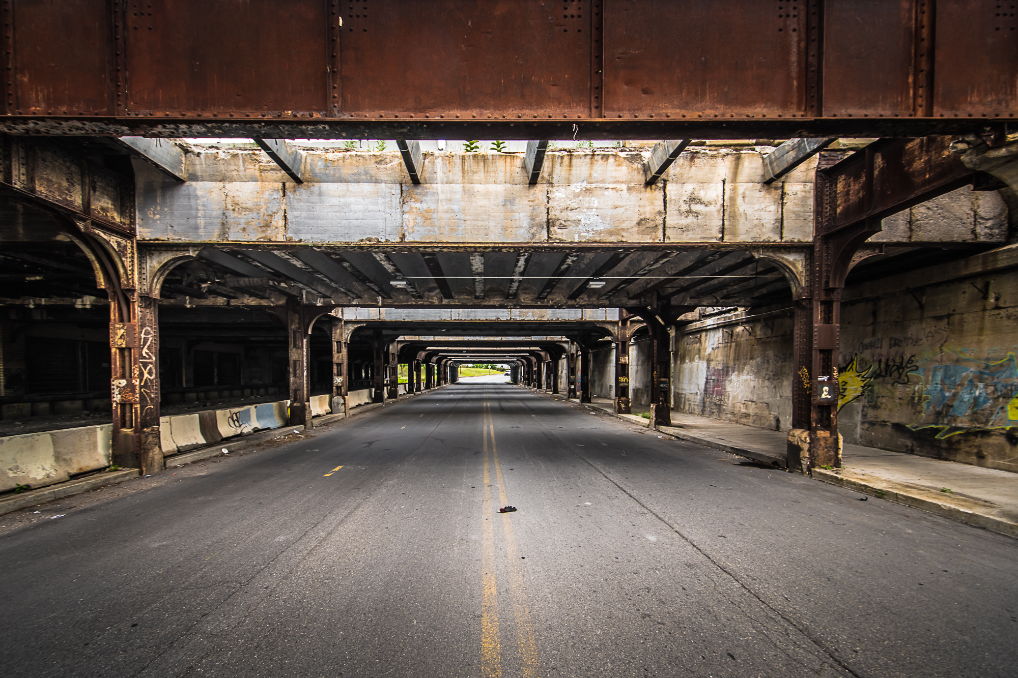 Roadway next to Michigan Central Station