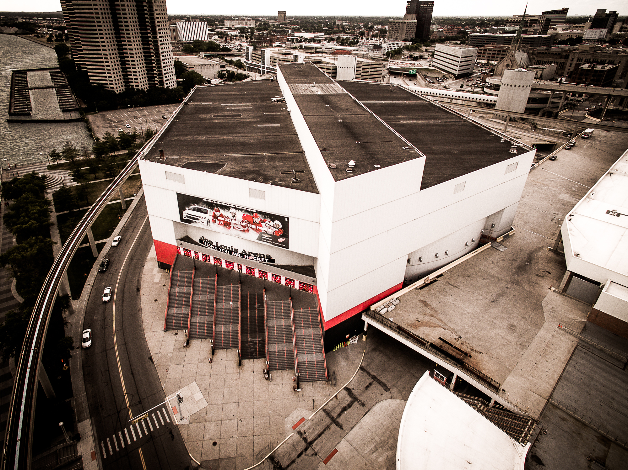 Joe Louis Arena Aerial