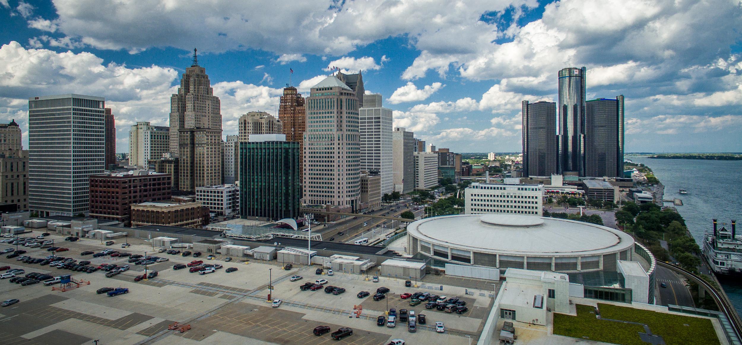Detroit Skyline Aerial