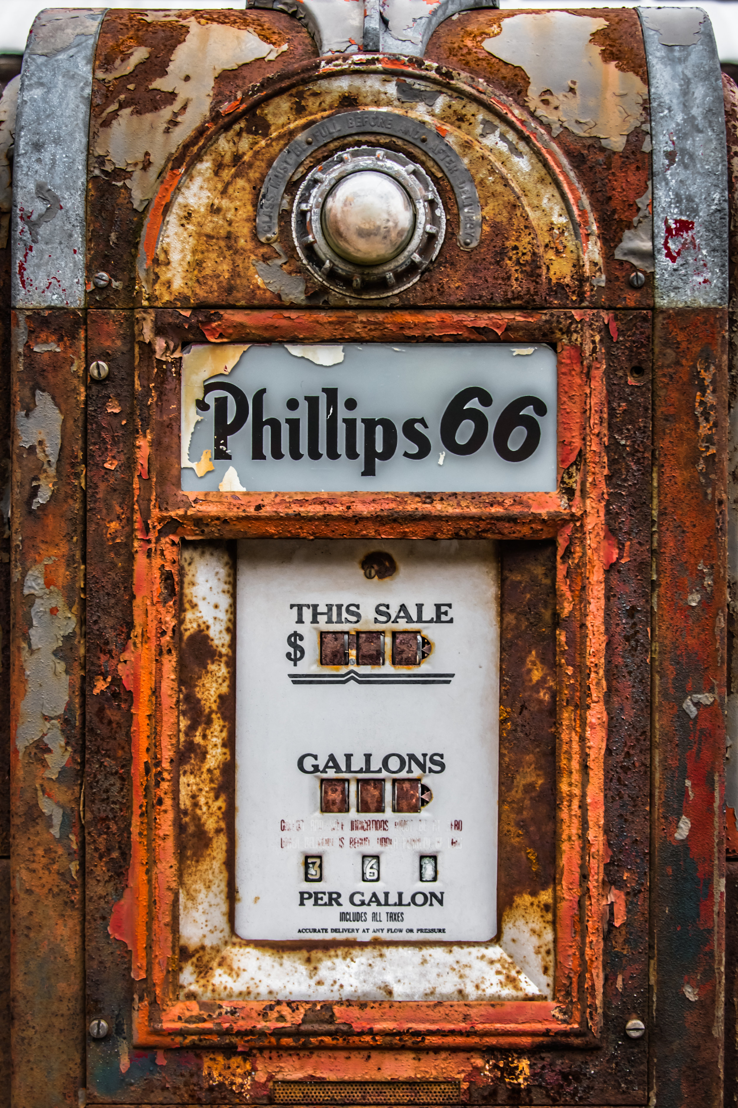 Old Phillips Gas Pump
