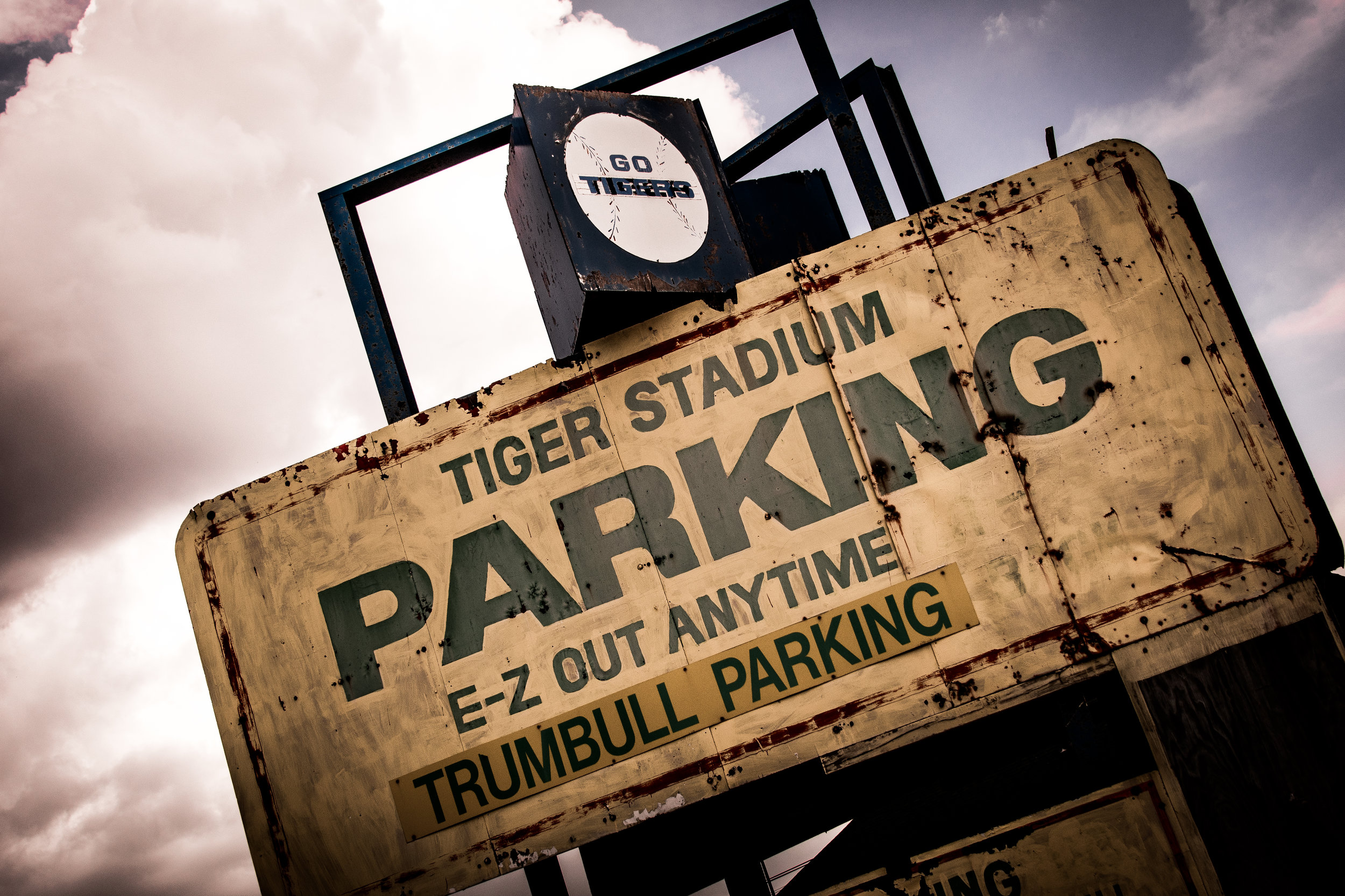 Tiger Stadium Parking Sign