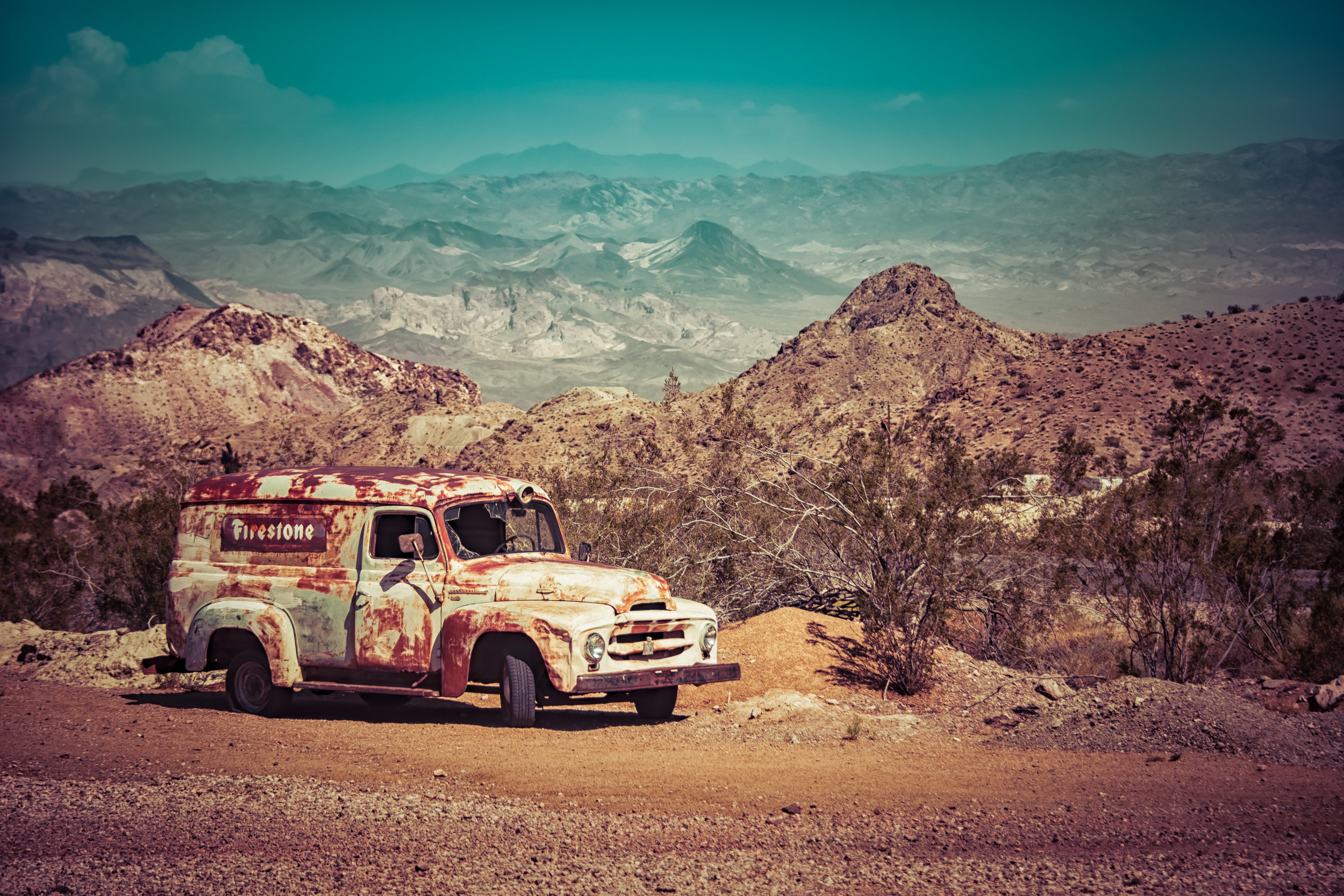 Old Truck in the Mountains
