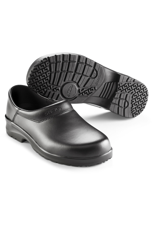 SIKA_MEE-CHef_luxury_chef_safety_kitchen_shoes_black_built_to_last_comfort_staff_leather_hand_made_clog_Flex.jpg