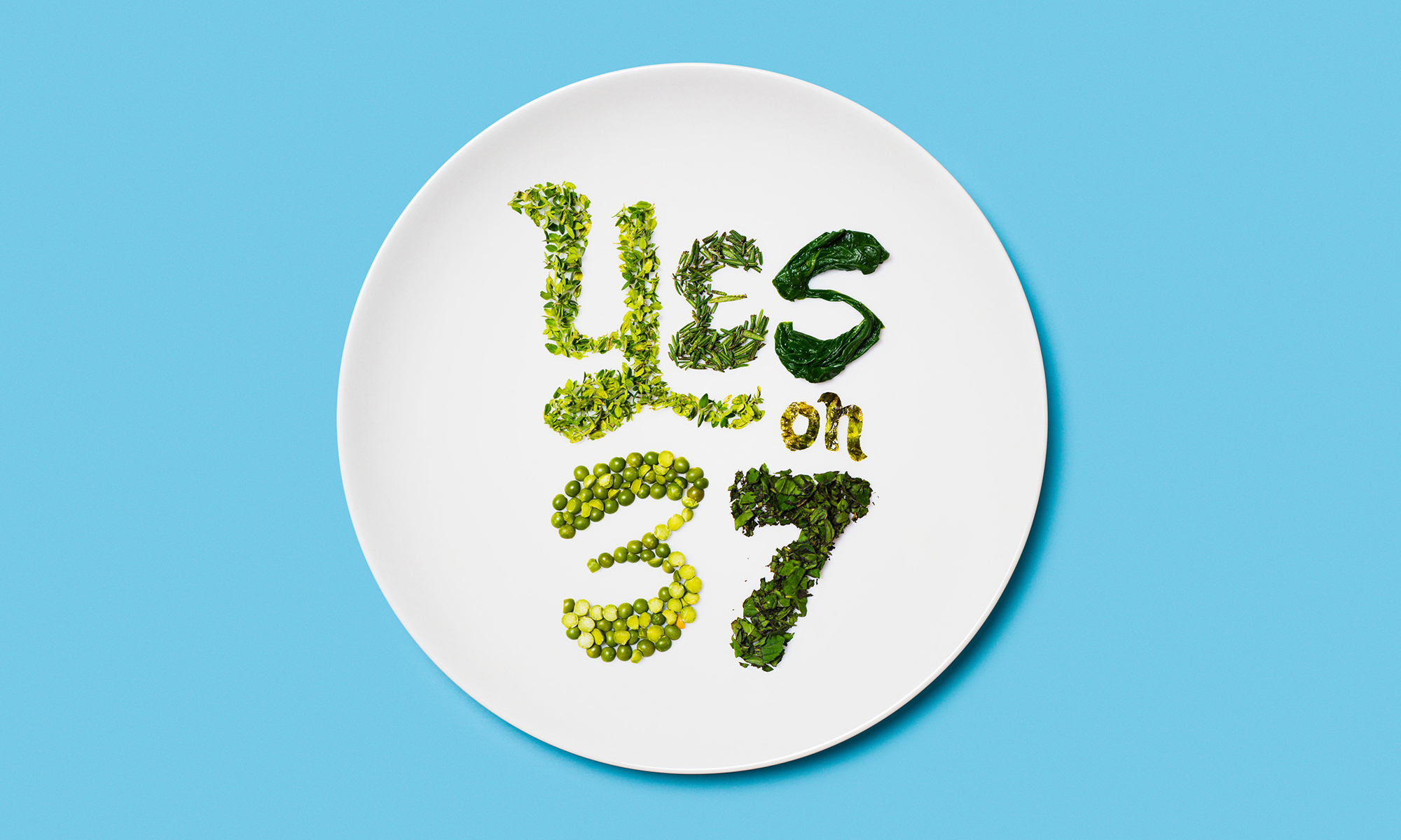 A title card for California's Prop 37 ballot initiative of 2012, encouraging a 'yes' vote for the labelling of genetically-engineered foods.