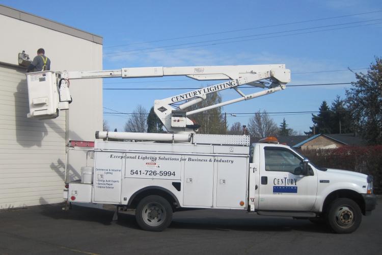 Boom Trucks, Exterior lighting, Warehouse Lighting Upgrades,