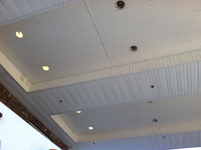 Old lighting, exterior lighting, canopy lighting
