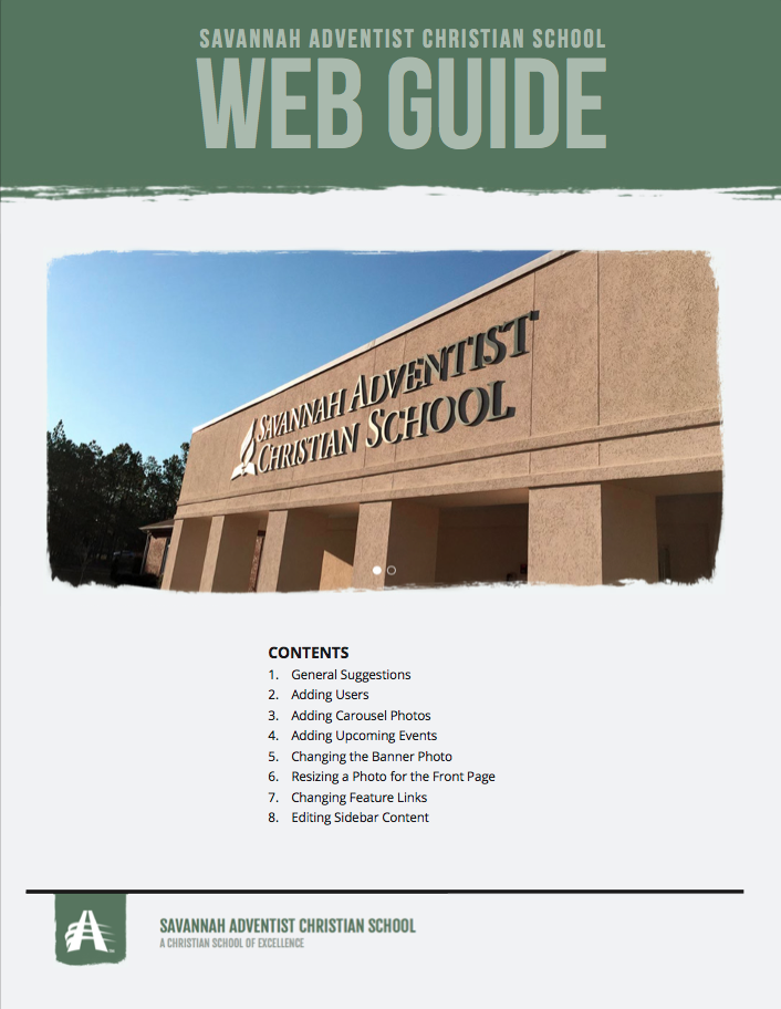 Savannah Adventist Christian School Web Guide