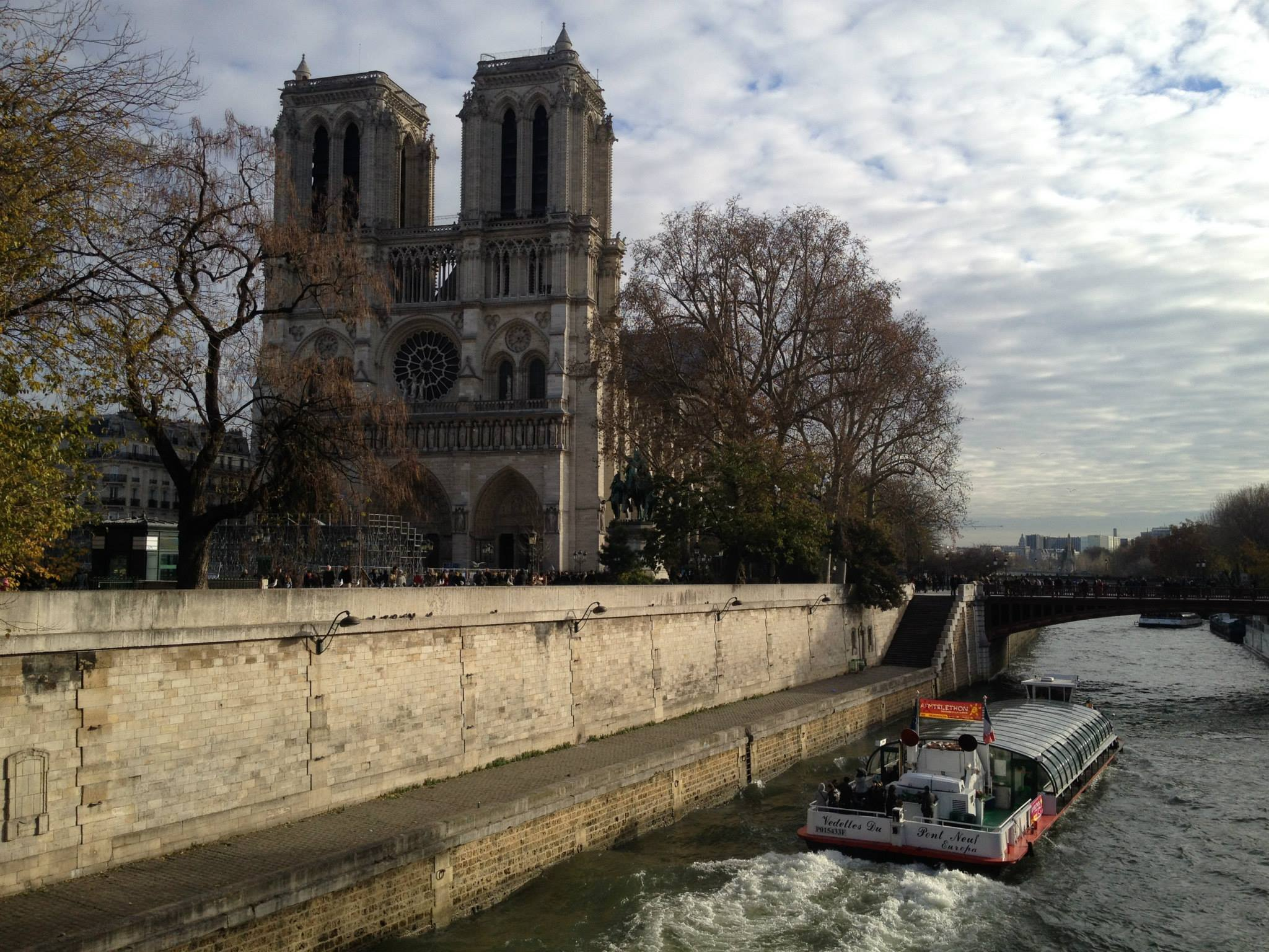 The Notre-Dame Cathedral in Paris, 2013.