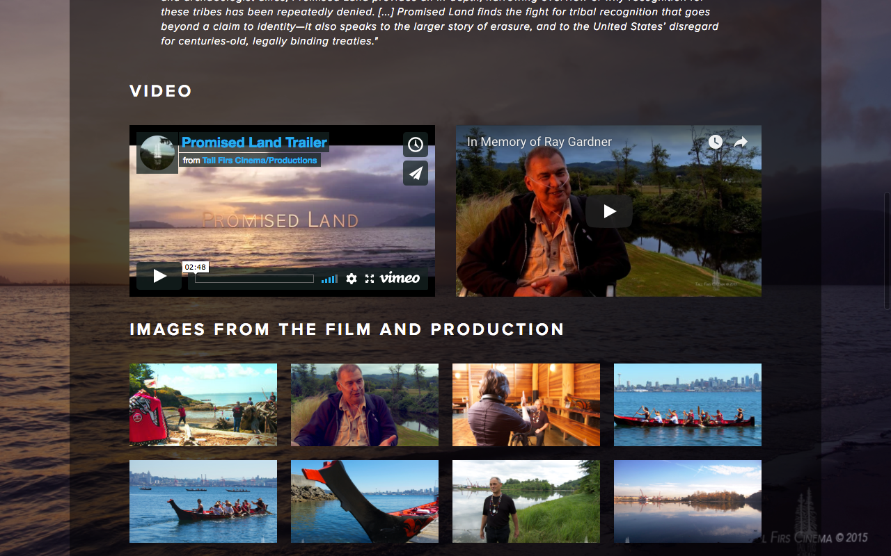 Created for Tall Firs Cinema's feature film,  Promised Land .  http://promisedlanddoc.com