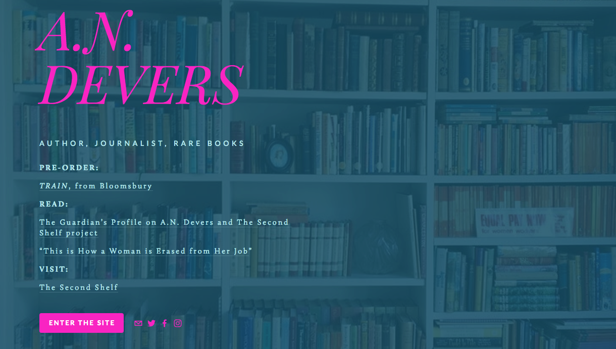 Website created for A.N. Devers:  http://andevers.com
