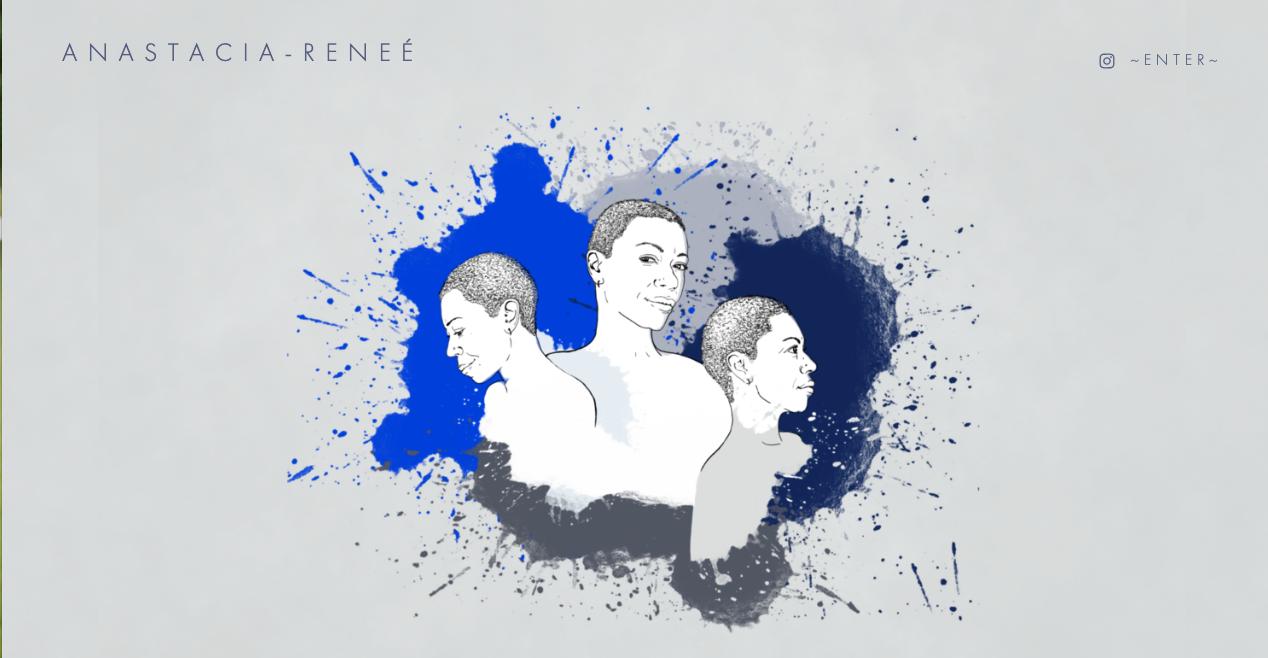 Illustration & website created for Anastacia-Renee:  anastacia-renee.com