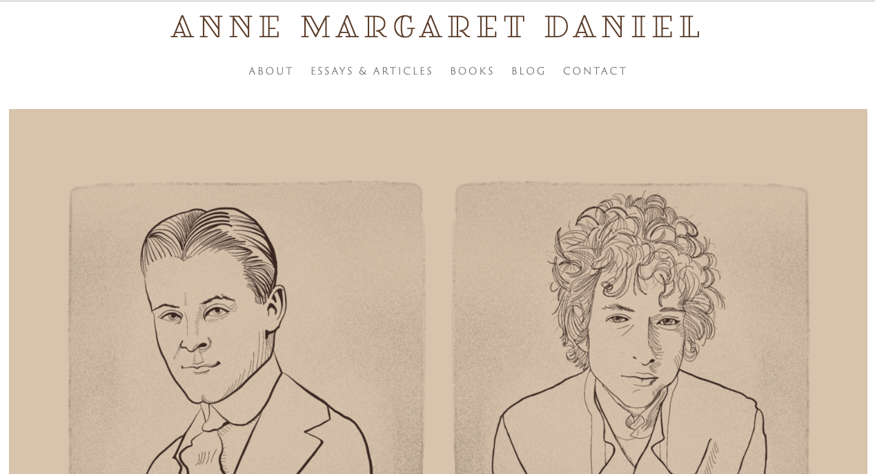 Illustration and site for Anne Margaret Daniel:  annemargaretdaniel.com