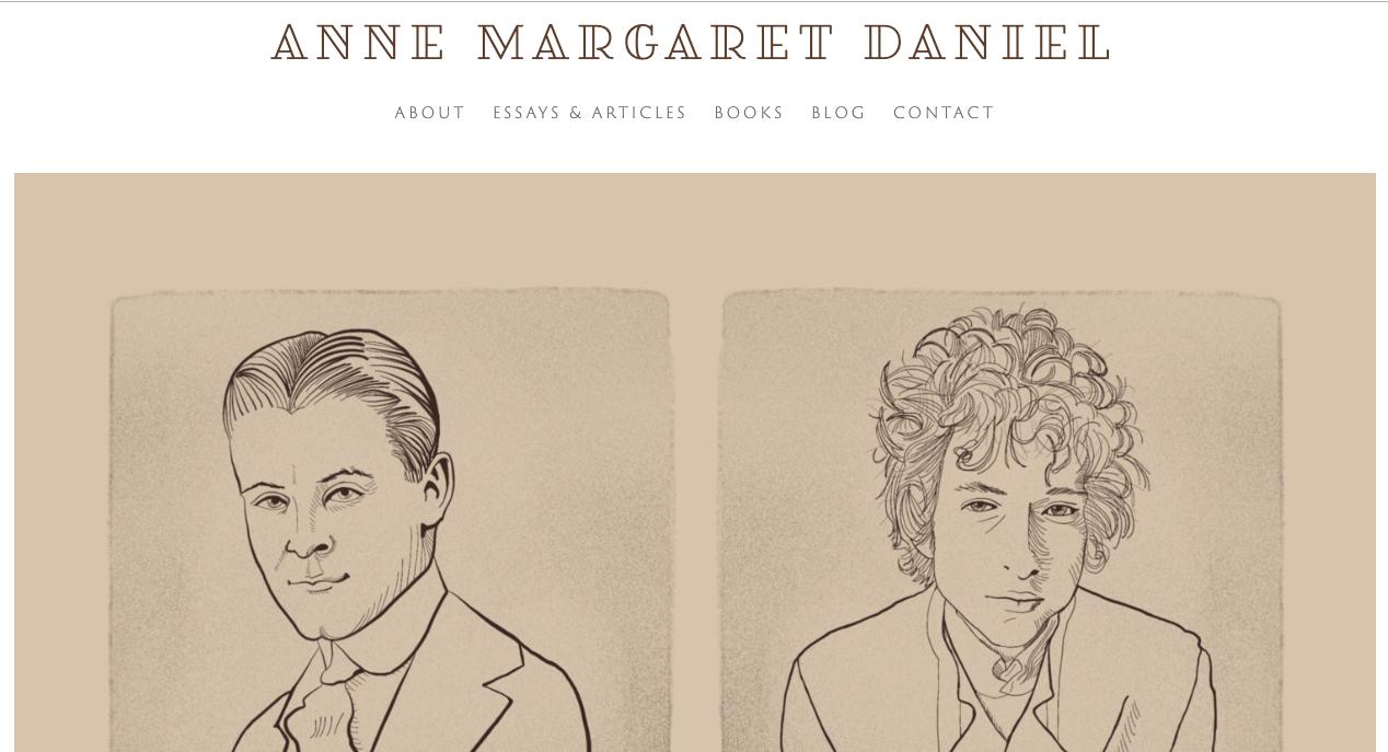 Illustration and site for Anne Margaret Daniel:  annemargaretdaniel.com