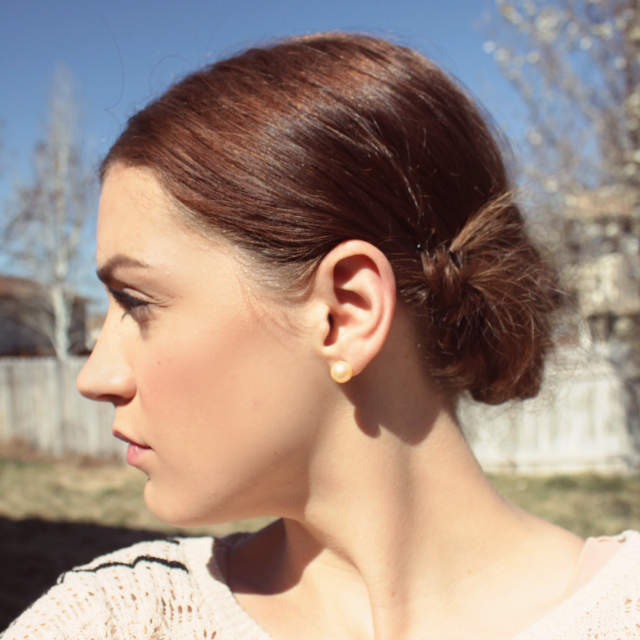 Chignon Updo Side View | A Dash of Salter