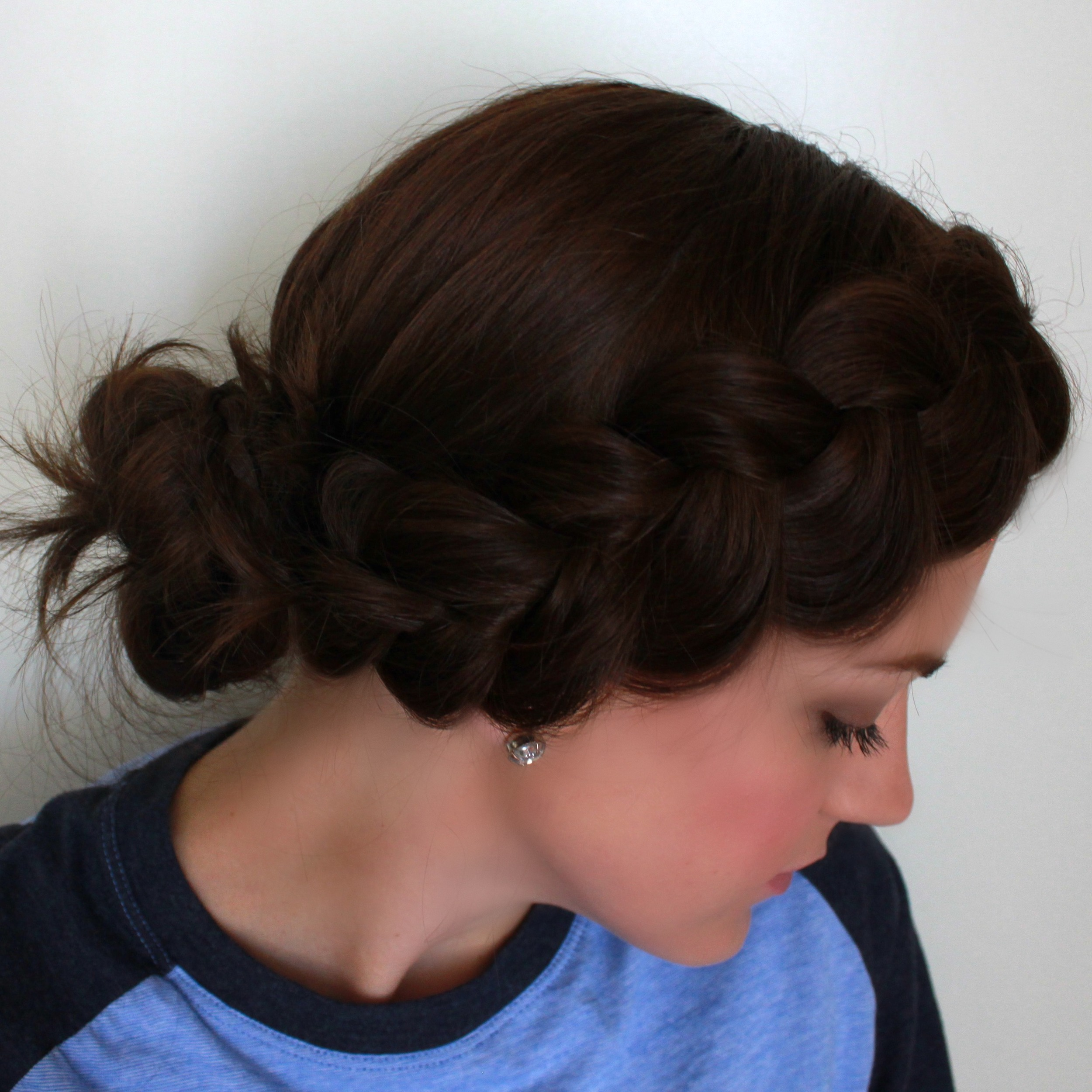 Dutch Braid, Side Bun | A Dash of Salter