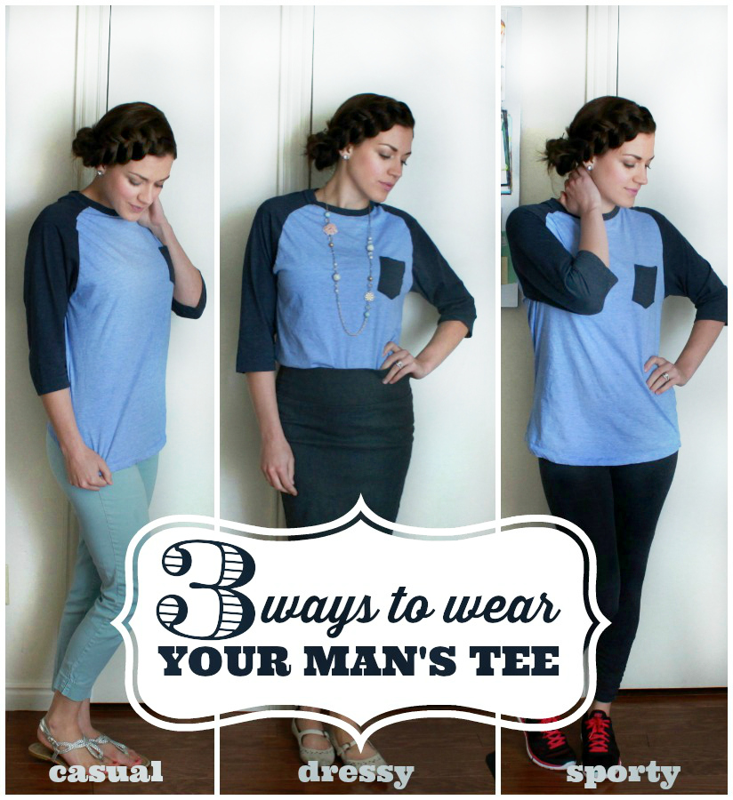 3 Ways to Wear You Man's Tee | A Dash of Salter