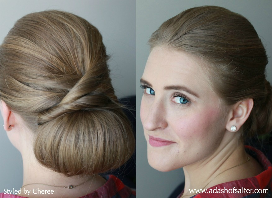 Twisted Glam Chignon Tutorial | Styled by Cheree | A Dash of Salter
