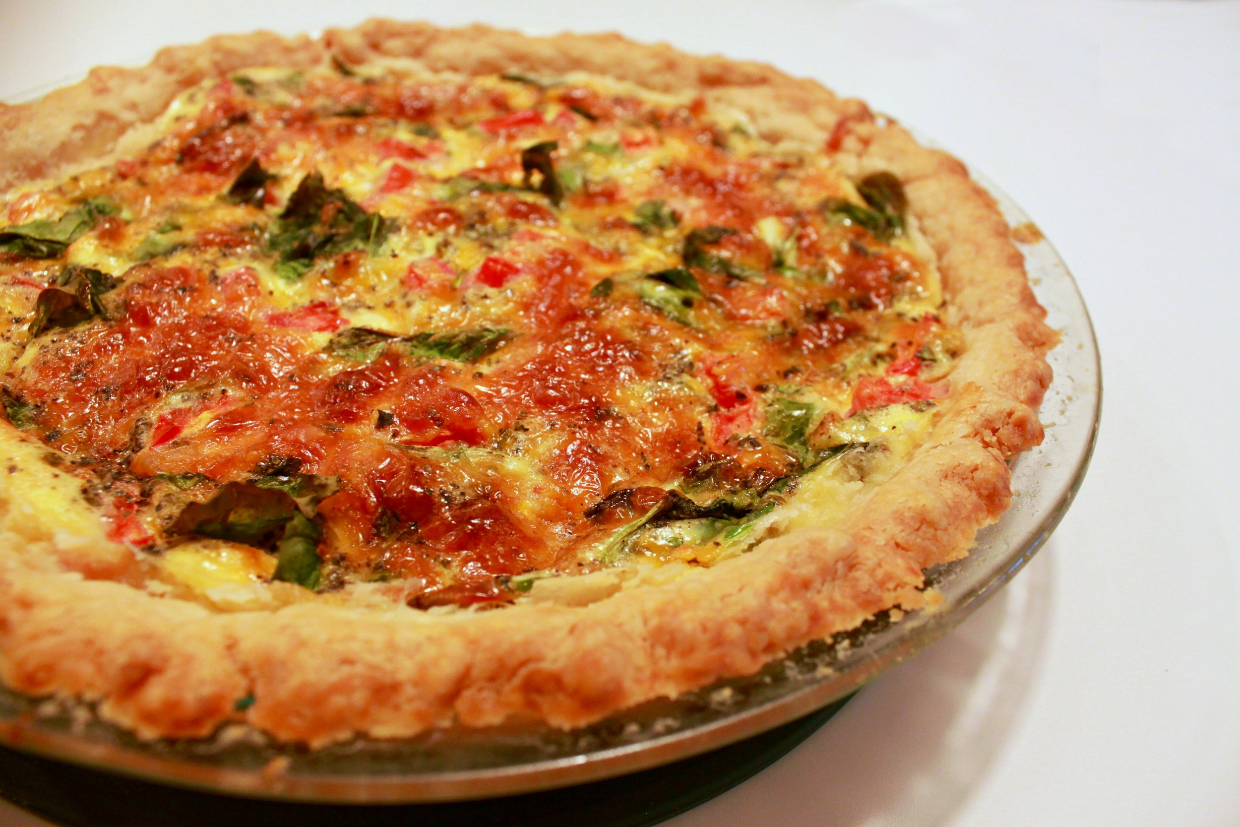 Spinach Tomato Basil Quiche Recipe || Salter Eats || A Dash of Salter || Rich Flaky Pastry Recipe bonus