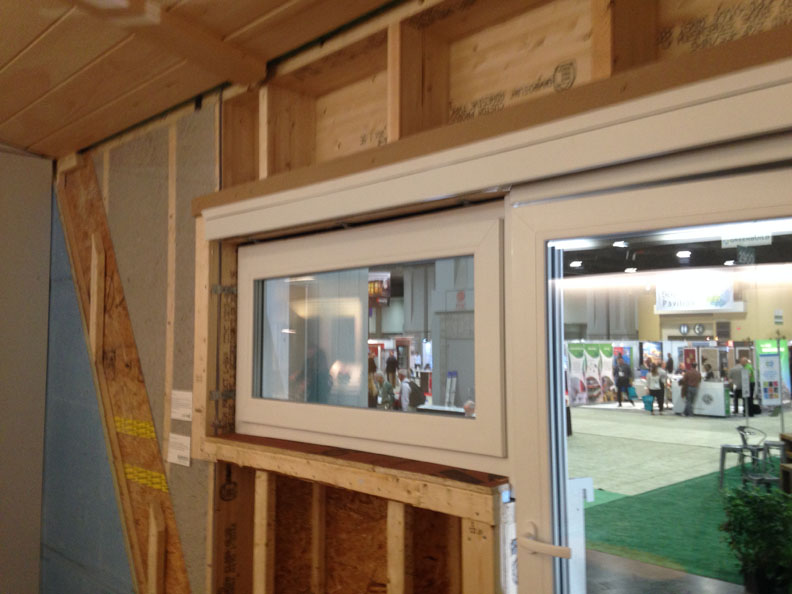 Super-insulated wall construction with continuous insulation thermal break. All materials are Cradle-to-Cradle certified.