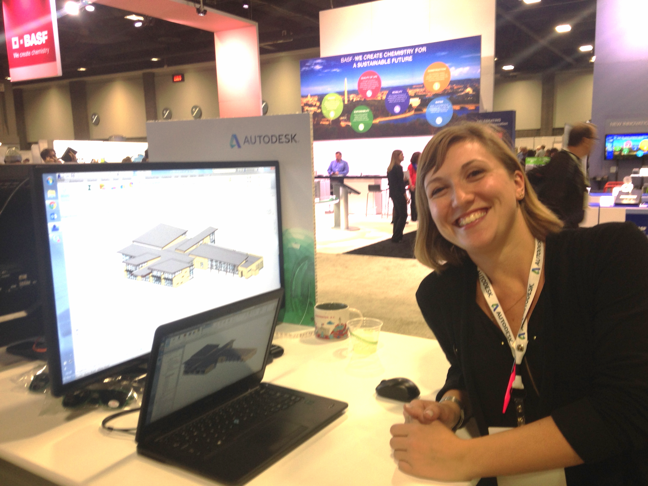 """Stephanie Egger, a """"Building Performance Analysis Evangelist"""" from Autodesk shows off the newest line of built-in simulation tools for Revit, the industry leading building information modeling (BIM) design tool."""